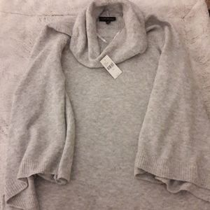 Gray, cold neck sweater